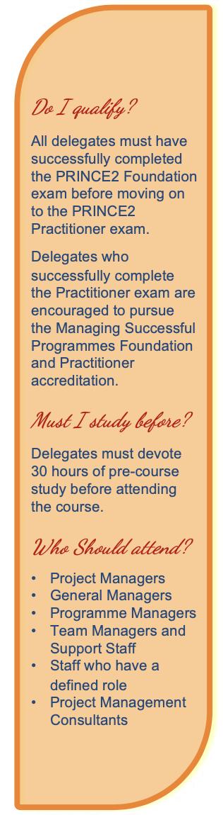 PRINCE2 Course Pre-Requisites